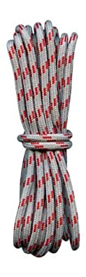 Hiking boot laces Grey with red fleck 4mm diameter (110cm length)
