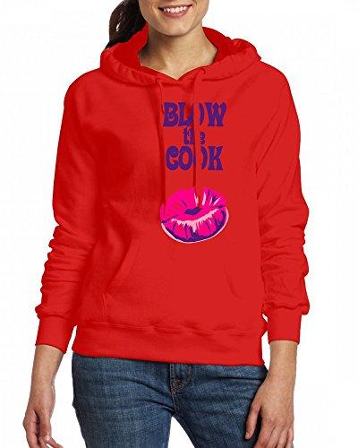 Blow the Cook Womens Hoodie Fleece Custom Sweartshirts Red