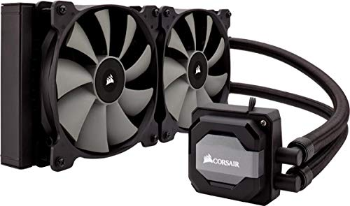 Corsair Hydro H110i All-in-One Liquid CPU Cooler Sistema di Raffreddamento a Liquido, Radiatore da 280 mm, Due Ventole SP140 PWM, Nero