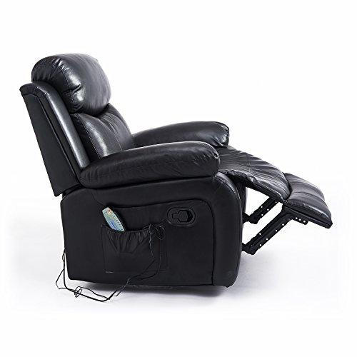 Homcom – Poltrona Massaggiante Relax Ergonomica con 8 Punti di ...
