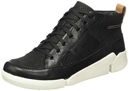 Clarks - Tri Amber, Sneakers alte Donna Nero (Black Combi Leather)