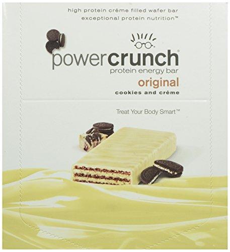 Power Crunch Protein Energy Bar, Cookies & Cream 12 ea, Cookies & Crème, 12 Count