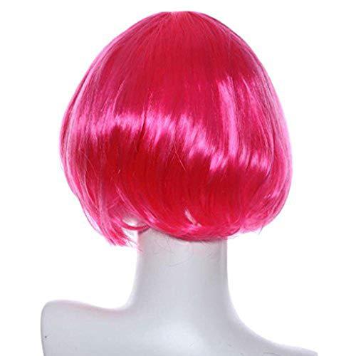 kashyk Damen Perücken, Kurz Glattes Haar, Mode Natur Hitzeresistente Kunsthaar,Haarersatz Cosplay Perücke, Ostern Perücke,Anime ()
