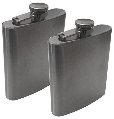 2-er Set FLACHMANN EDELSTAHL silber (225ml - 8 OZ) matt gebürstet - für Camping, Outdoor, Wandern, Skifahren, Ski, Angeln, Fischen, Snowboard, Reise, etc. - klein Trinkflasche Tasse Becher JGA Cup Mug Can Beacker Bowl stainless steel - original Inet-Trades GmbH Produkt (225 ml - 8 OZ)