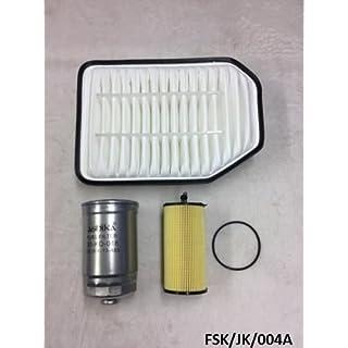 ASHIKA Air, Oil Filter & Fuel Filter Wrangler JK 2.8CRD 2007-2017