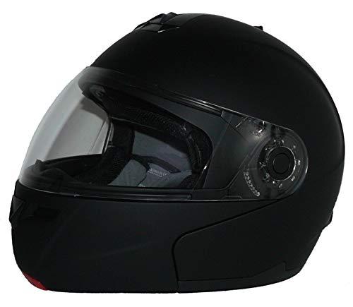 Klapphelm H910 matt-schwarz mit integrierter Sonnenblende - M