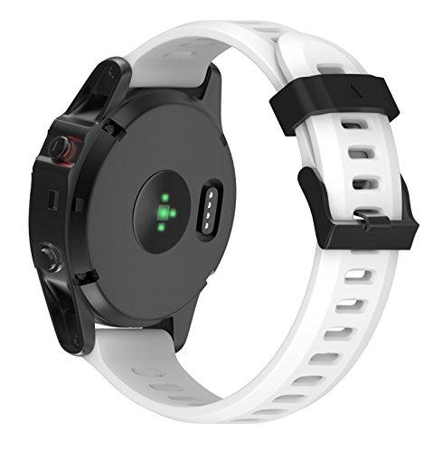 Yallylunn Replacement Silicagel Soft Band Strap Wird Nicht Leicht Brechen Mode Wild Schmutzig Einstellbar for Garmin Fenix 5X GPS Watch