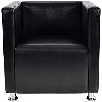 Salon Synthétique De Chaise Sofa Fauteuil Design Noir Vidaxl Maison Cube Cuir 5jAL4R