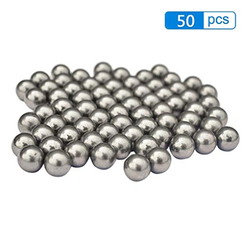 Lorsoul 50PCS / Set 8mm Low-Carboon Stahlkugel lose Korn-Schleuder Balls Katapult Sling Schlagen Stahl Perlen Sling