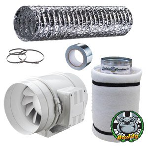 Fantronix In Line Fan Carbon Filter u0026 Duct Kit - Hydroponic Grow Room Tent Ventilation  sc 1 st  Amazon UK : grow tent ventilation kit - memphite.com