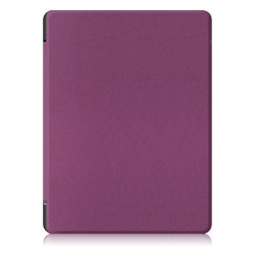WindTeco Kobo Aura H2O 2nd Edition Hülle, Ultra Dünn und Leicht PU Leder Schutzhülle Tasche mit Auto Aufwachen/Schlaf Funktion für Kobo Aura H2O Edition 2 E-Reader 6,8 Zoll 2017 Release, Violett