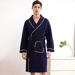 900cf65b5 BXYR Pijama Hombres y Mujeres Albornoces Parejas Chal Collar Robe Franela  Hotel SPA Otoño e Invierno Pijamas Vestido de Pareja
