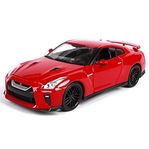 LMEI-Cars Nissan GT-R Modelo De Coche Deportivo VersióN 2017, Modelo Original A Escala 1/24, FundicióN A PresióN De Metal, Se Puede Abrir El Capó De La Puerta, Modelo EstáTico Terminado