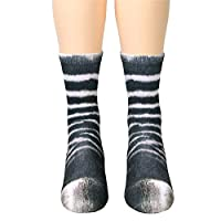 Unisex Adult 3D Print Animal Foot Hoof Socks