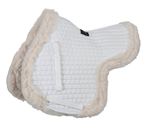 Shires Fully Fleece Lined Numnah - White: Cob/Full 1