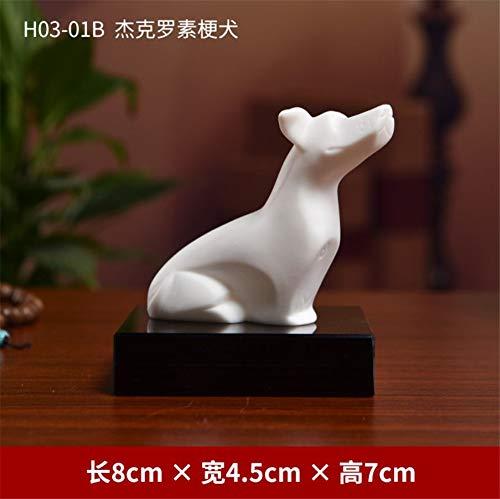 WDDqzf Skulptur Figur Dekoration Statuen Kreatives Maskottchen-keramischer Tierkreis-Hundedekoration-Ausgangsdesktop-Dekoration/weltberühmter Hund, Jack Russell Terrier -