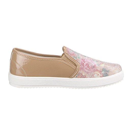 Scarpe Da Donna, Lb930-1, Mocassini Pantofole Marrone W-63-