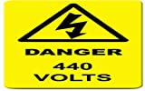 #10: Danger 440 Volt sticker (Warning signage)