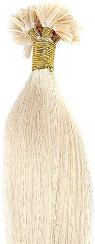 55cm u-tip extension capelli veri cheratina 100 ciocche 0.5g/ciocca naturali lunghi estensioni remy human hair, 60 biondo platino