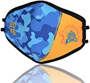 EUME Protect+ 95 (IPL- Official Chennai Super Kings Face Mask) Reusable and Washable (UNISEX) - (CamoBlue, Pac
