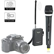 Wireless Handheld Microphone,Saramonic WM4CA VHF Professional Portable Reporter Hand Mic for DSLR Camera / Video Camcorder,Compatible with Canon/Nikon/Sony/Panasonic/BlackMagic/Zoom /Tascam /Roland