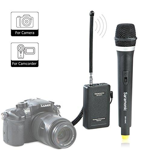 Saramonic WM4CA Professionelle tragbare drahtlose VHF Handheld-Mikrofon-System für DSLR-Kamera / Video-Camcorder, kompatibel mit Canon / Nikon / Sony / Panasonic / BlackMagic / Zoom / Tascam / Roland