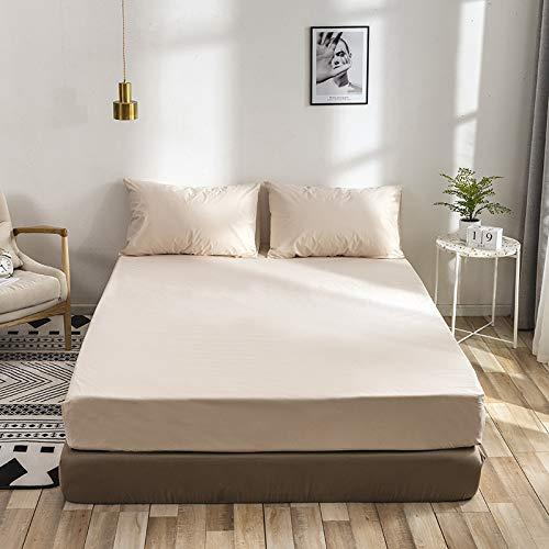SUYUN Extra elastischer und widerstandsfähiger Matratzenbezug/Matratzenüberzug,Einfarbige Stickerei Stickerei - Bean Twin 99 * 190 * 40