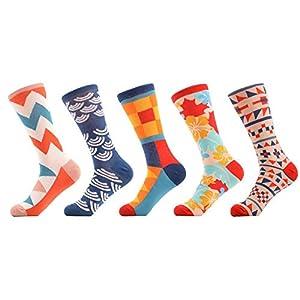 LILIKI@ 5 Paare/Los Neuheit Frauen Lustige Muster Gekämmte Baumwolle Mode Socken Mode Casual Dress Crew Hochzeit Socken Geschenke
