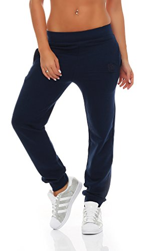 Gennadi Hoppe Damen Jogginghose Trainingshose Sweat Pants Sporthose Fitness Hose,blau,XX-Large