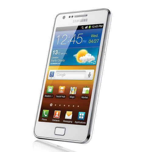 Samsung Galaxy S II i9100 DualCore Smartphone (10,9 cm (4,3 Zoll) Touchscreen Display, Android 4.0 oder höher, 8 MP Full-HD Kamera, 2 MP Frontkamera) ceramic-white Ceramic White