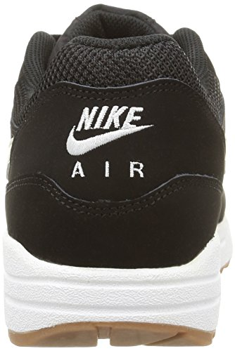Nike Air Max 1 Essential, Scarpe sportive, Uomo Black/Light Bone-White