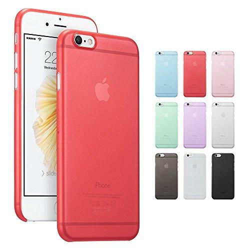 Coque iphone 6, ESR Ultra Mince Matte Transparente Coque Etui de Protection pour iPhone 6 / 6s 4,7 pouces [Anti Scratch ] [Anti Empreintes Digitales] Makeup Series_Pink Red