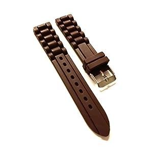 Armband zeigt Silikon Braun 18mm