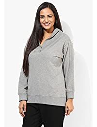 GRAIN Grey Color Regular fit Plain Solid Cotton Jackets for Women