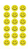 180 Gelbe Smiley Face Stickers  2cm - Lächlen - Freude - Belohnung