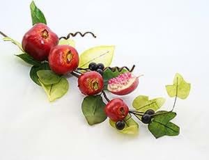 Ramo Frutta Bacche Foglie (Mele Granate)