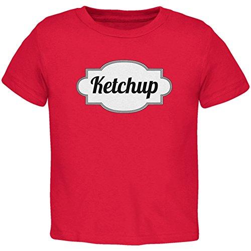 Halloween Ketchup Kostüm rot Kleinkind T-Shirt-4 (Ketchup Kostüme Kind)