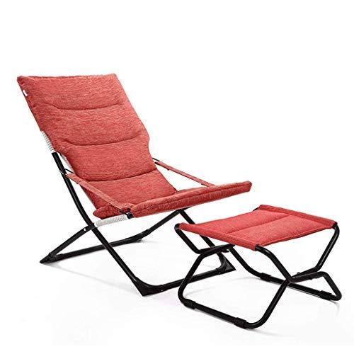 Pliant, canapé, Chaise, Balcon, Bureau, Cour, Pied (Color : Red)
