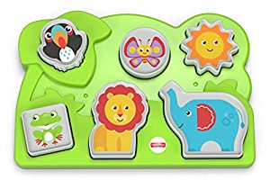 Fisher-Price Jungle Animal Puzzle - Juegos educativos (Multicolor, Child, Niño/niña, 1 año(s))