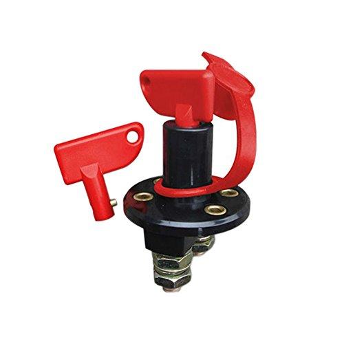 Ferrell Batterie-Trennschalter, Trennschalter, 60 V, mit 2 Schlüsseln und Abdeckung