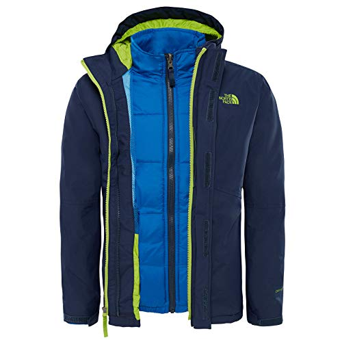 The North Face B Boundary Triclimat Cosmic Blue/Lime Green L (Kids) North Face Kids Outerwear