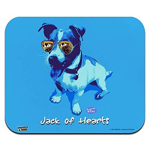 Jack of Hearts Russell Terrier Sonnenbrille Vintage Retro Low Profile dünne Mausunterlage Mousepad -