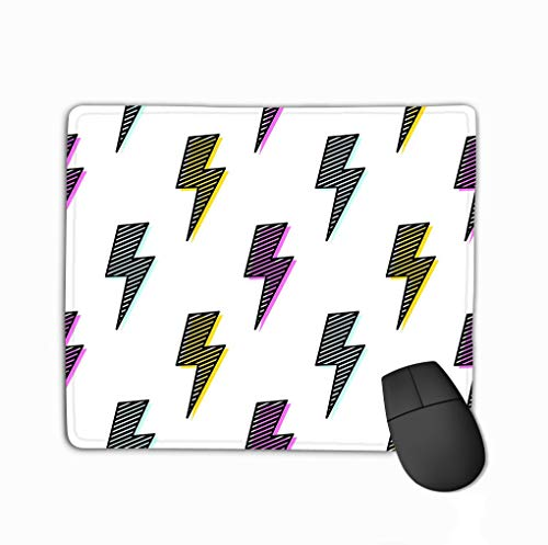 Mouse pad bright lightning bolt seamless pattern fun design pop art funky background artistic texture bright lightning bolt seamless pattern steelserieskeyboard -