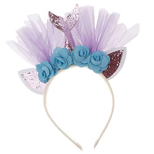 F Fityle Diademas Bebes Moda Lindo Flores Cinta Orejas