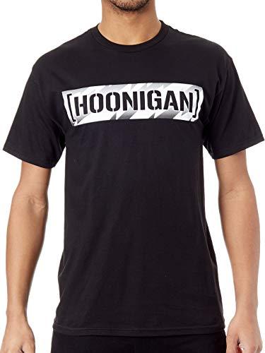 Hoonigan Schwarz Bolts Censor Bar T-Shirt (Medium, Schwarz)
