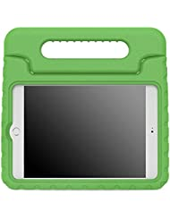 MoKo Apple iPad Mini 4 Case - Kids Shock Proof Convertible Handle Light Weight Super Protective Stand Cover Case for Apple iPad Mini 4 2015 Tablet, GREEN