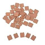 MagiDeal 35pcs 1/16 Skala Backstein Dachziegel für Stein Baukasten, Größe: 1,8x1,8cm