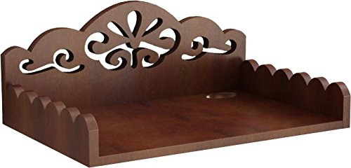 Brwon Wooden Designer Set Top Box Holder And Wall Shelf  available at amazon for Rs.599