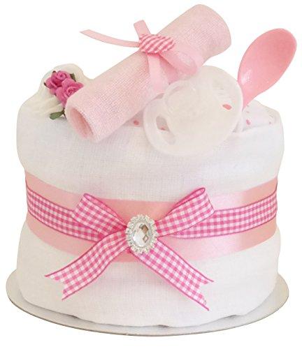 Preisvergleich Produktbild Signature Rose gâteau de couches étagère simple filles/Panier de douche/maternité/Baby Pour Bébé Laisse/nouveau bébé cadeau/envoi rapide