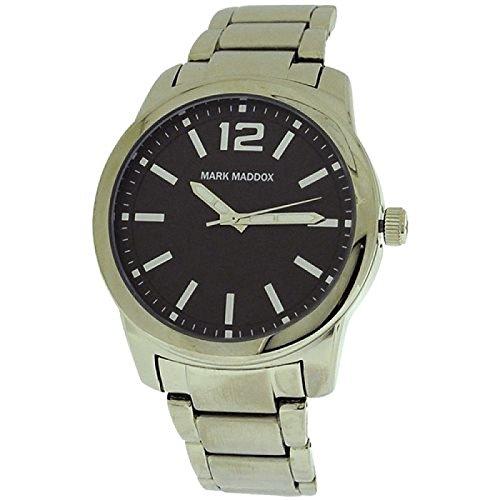 Mark Maddox Gents Blacktone Dial & Silvertone Bracelet Strap Watch HM6006-55